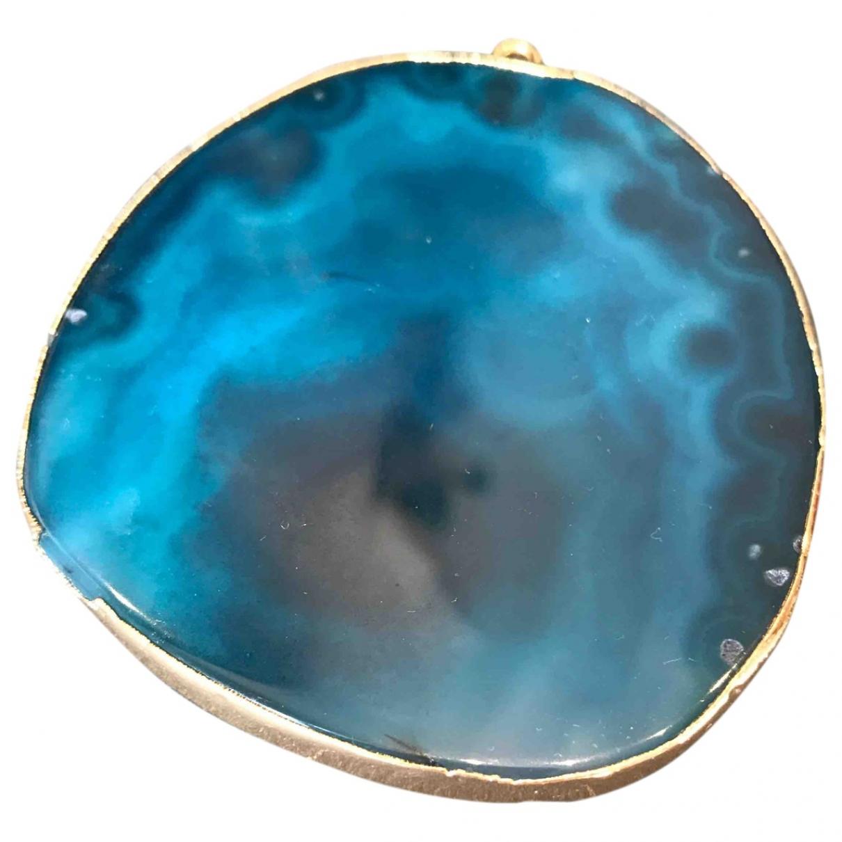 - Pendentif Agate pour femme en metal - bleu