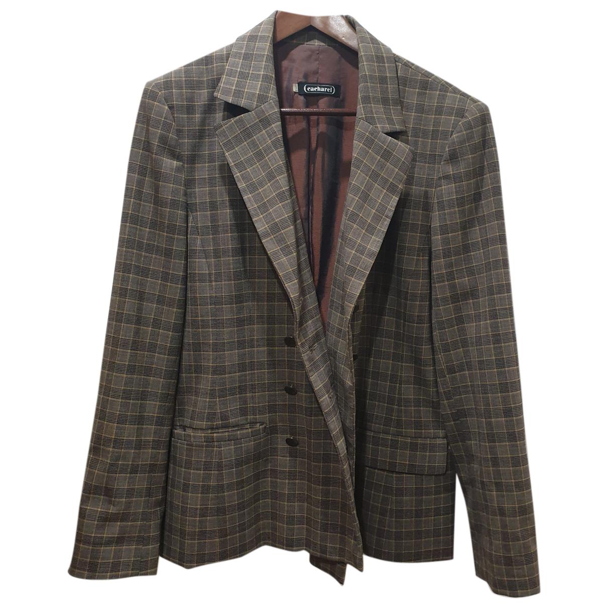 Cacharel N Grey Wool jacket for Women 44 FR