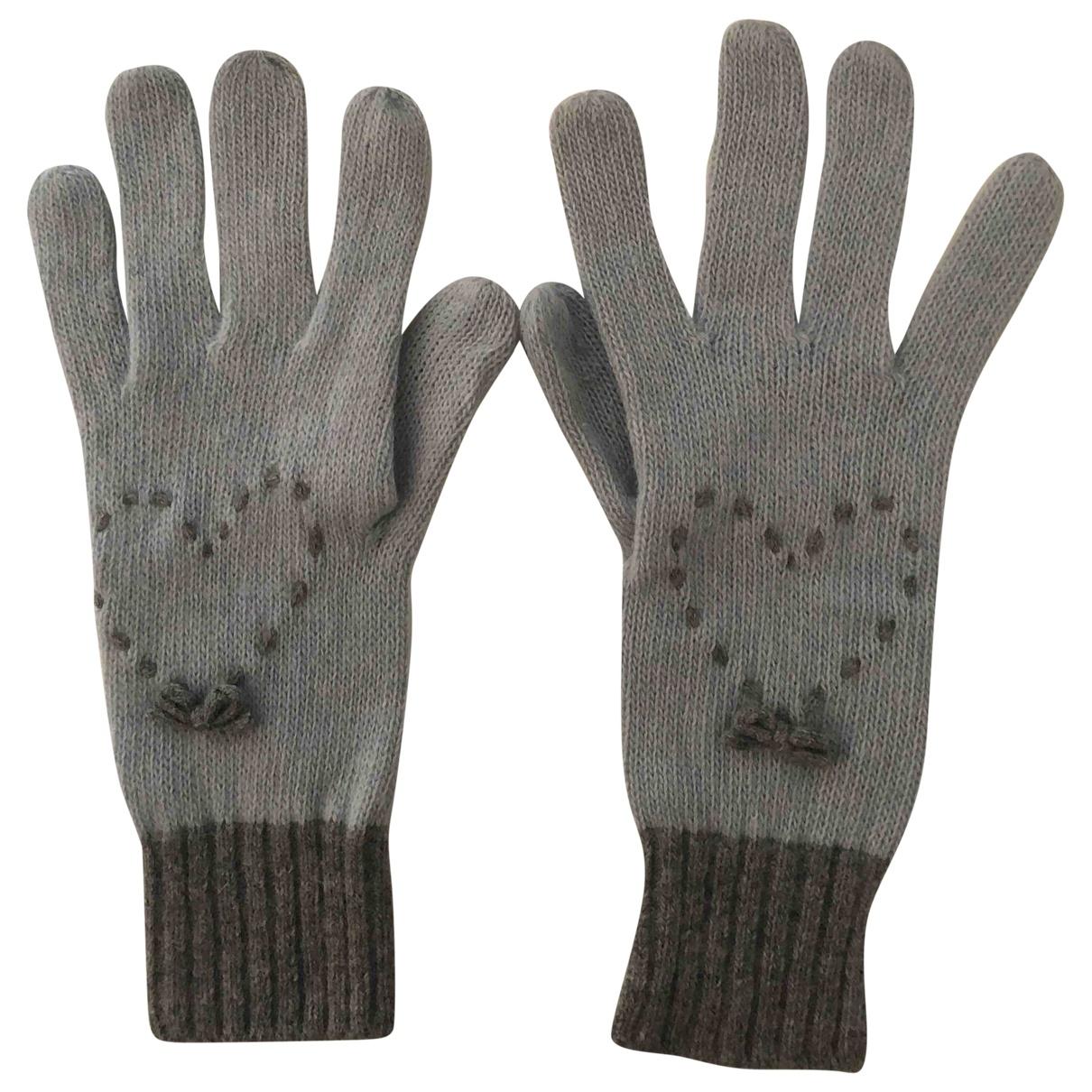 Moschino \N Grey Wool Gloves for Women S International