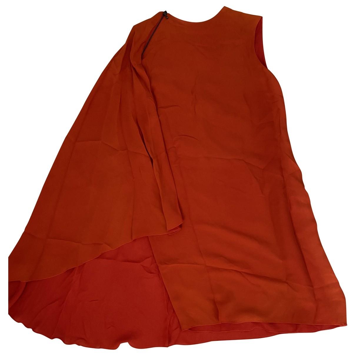 Lanvin \N Orange Silk dress for Women 38 FR