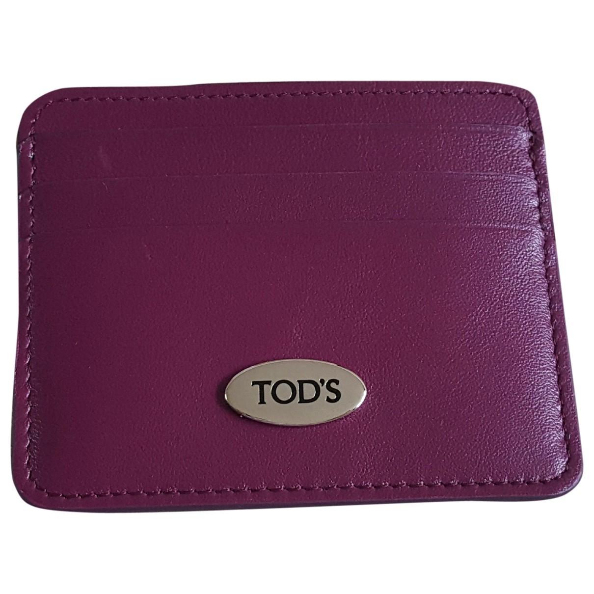 Tods - Petite maroquinerie   pour femme en cuir - violet
