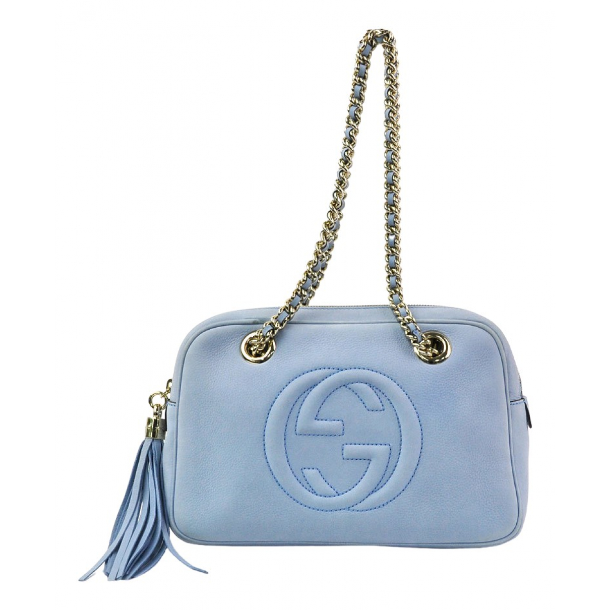 Gucci Soho Handtasche in  Blau Leder