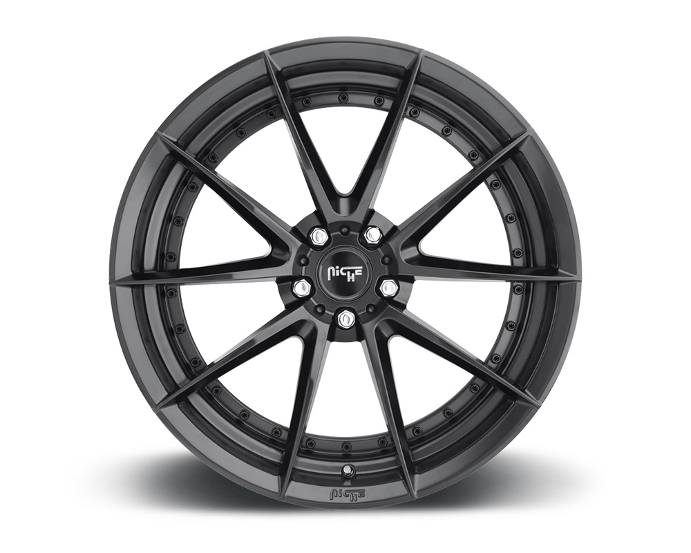 Niche M196 Sector Satin Black 1-Piece Cast Wheel 19x8.5 5x108 40mm