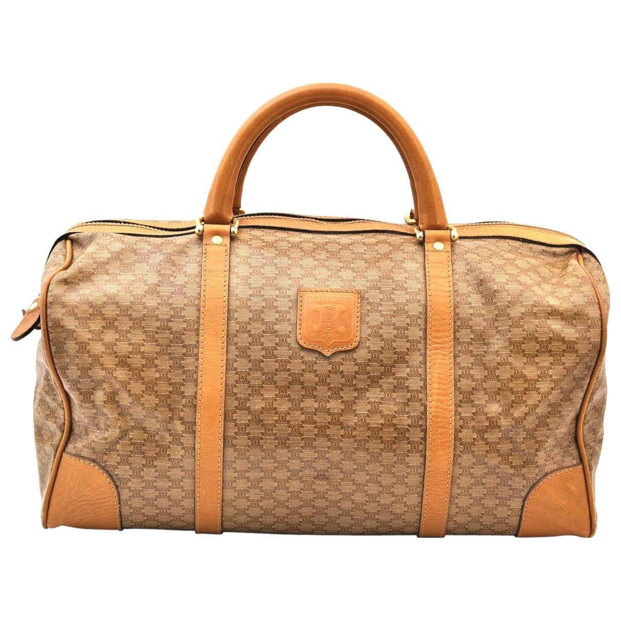 Celine - Sac de voyage   pour femme en cuir - beige