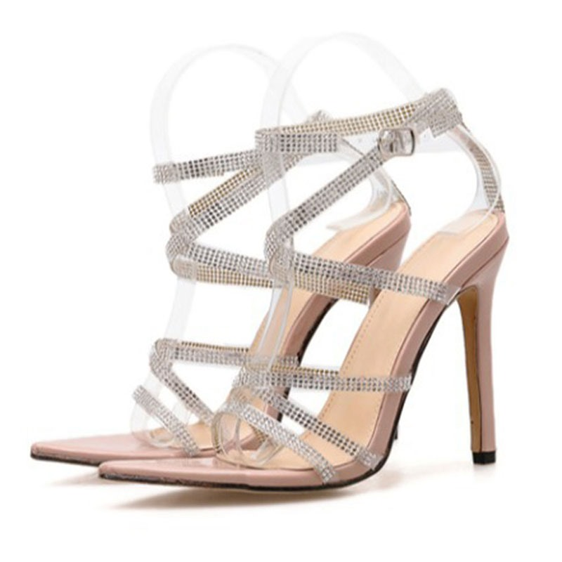 Ericdress Pointed Toe Buckle Stiletto Heel Casual Sandals