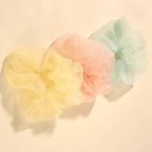 3pcs Simple Solid Scrunchie