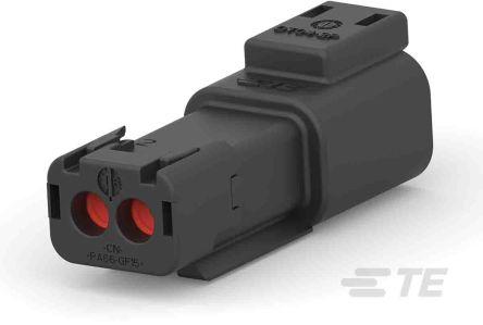 Deutsch ,  DT Automotive Connector Socket 1 Row 2 Way, Screw Termination, IP68, Black (950)