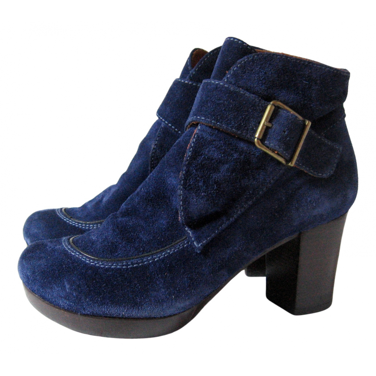 Chie Mihara \N Blue Leather Ankle boots for Women 36 EU