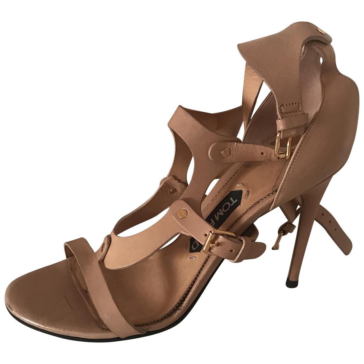 Tom Ford - Sandales   pour femme en cuir - beige