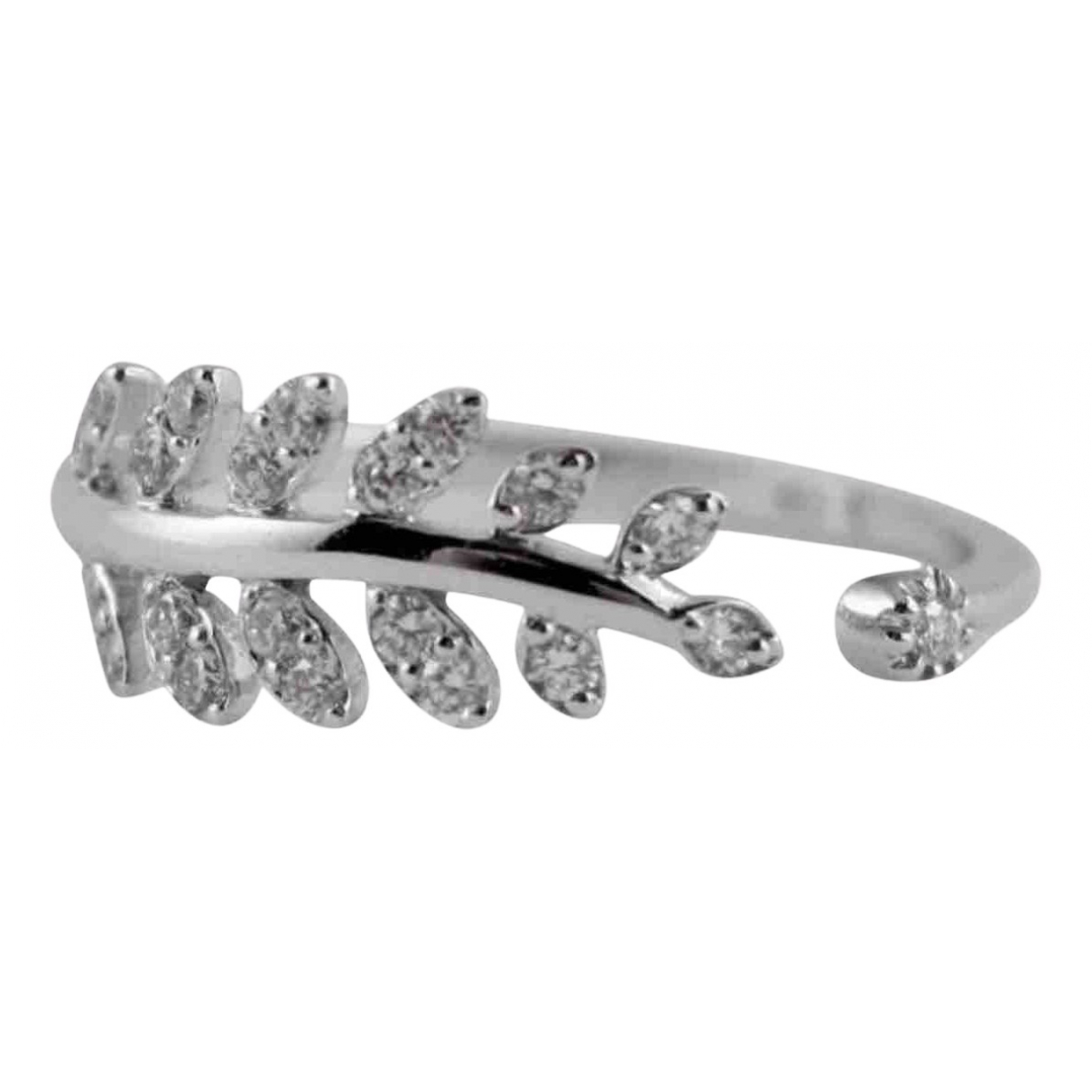 Non Signé / Unsigned Motifs Floraux White gold ring for Women 54 EU