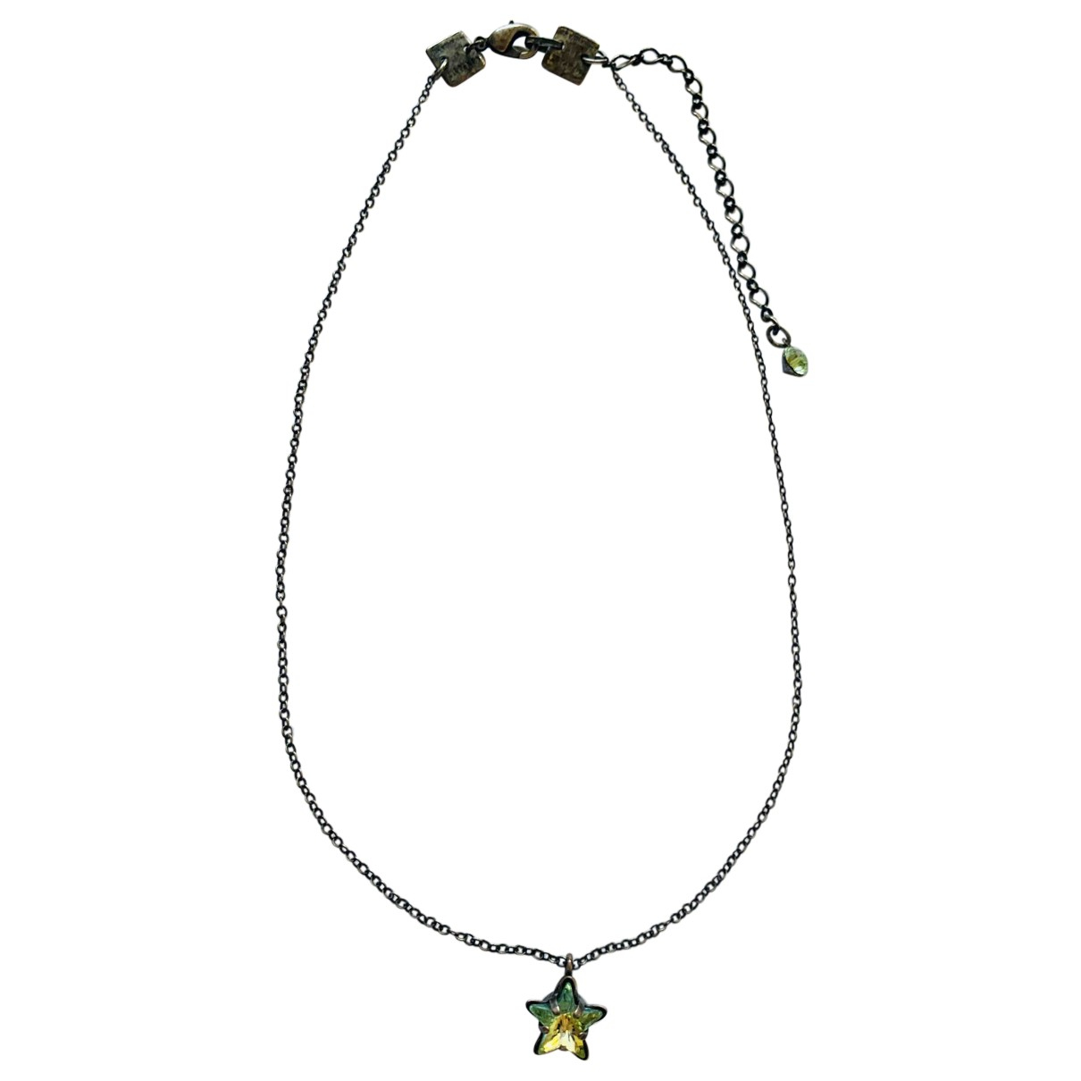 Non Signé / Unsigned \N Green Metal necklace for Women \N