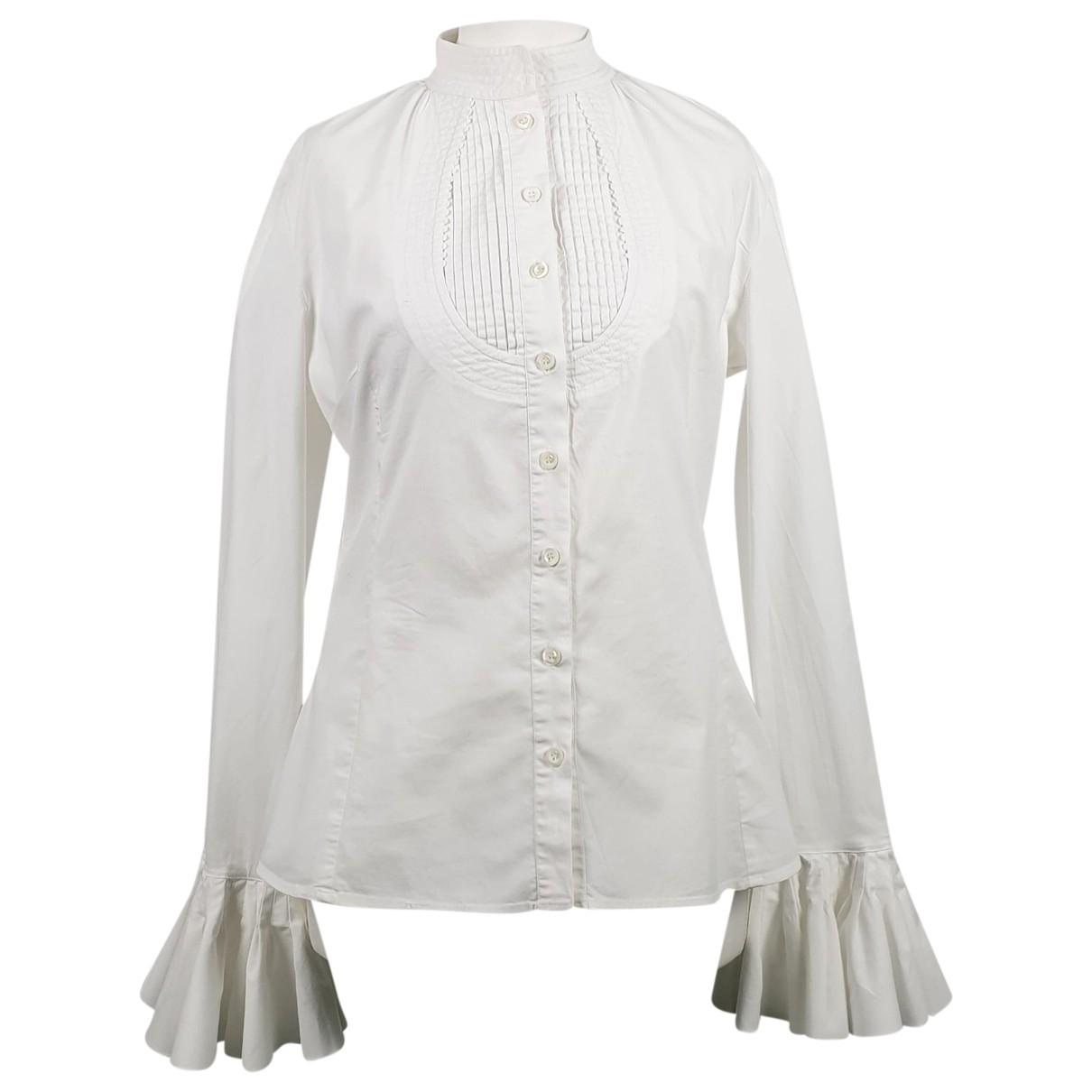 Joseph - Top   pour femme en coton - blanc