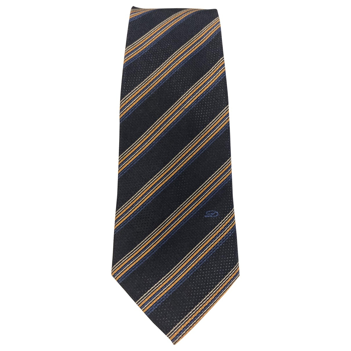 S.t. Dupont \N Krawatten in  Marine Seide