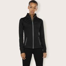 Sports Jacke mit Reissverschluss, Stich am Saum und Daumenloch