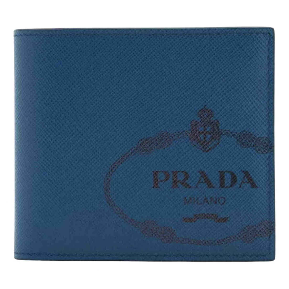 Prada N Blue Leather Small bag, wallet & cases for Men N
