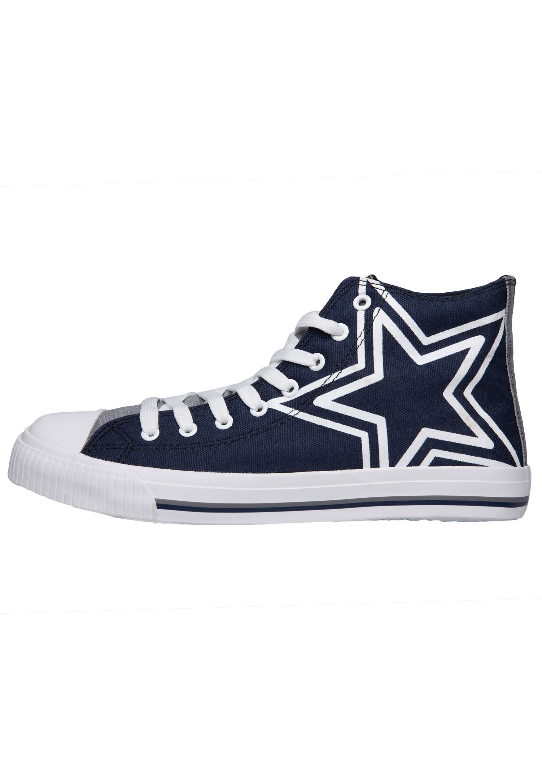 Dallas Cowboys High Top Big Logo Canvas Shoes for Men