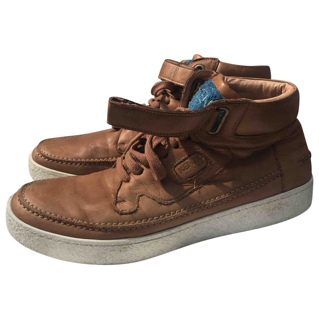 Kenzo \N Camel Leather Trainers for Men 42 EU