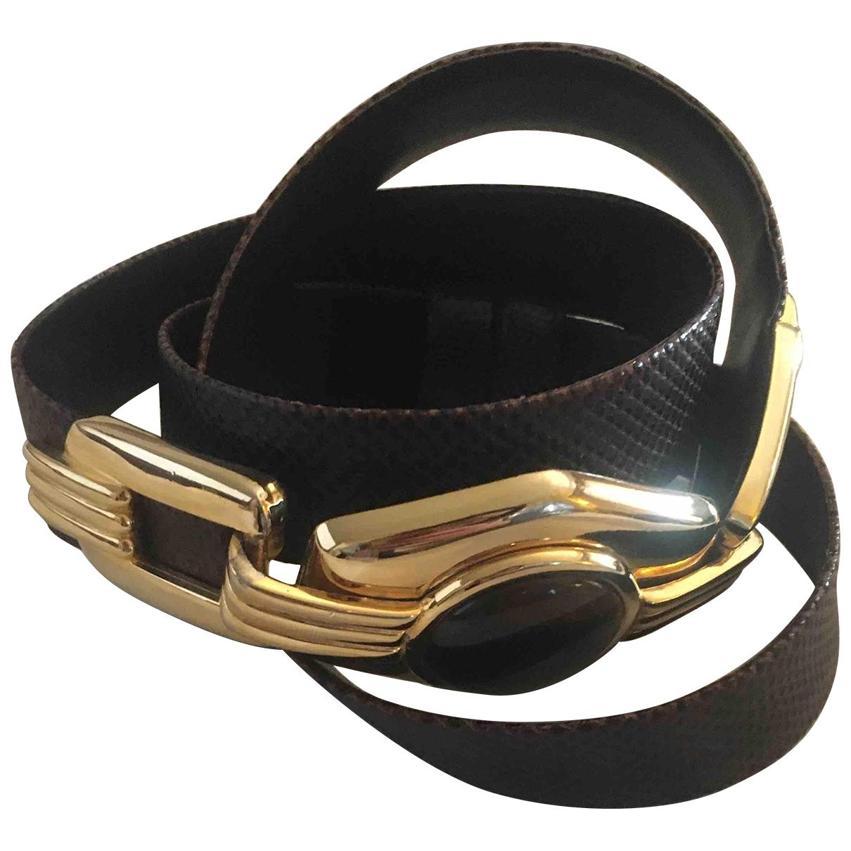 Judith Leiber \N Brown Lizard belt for Women L International