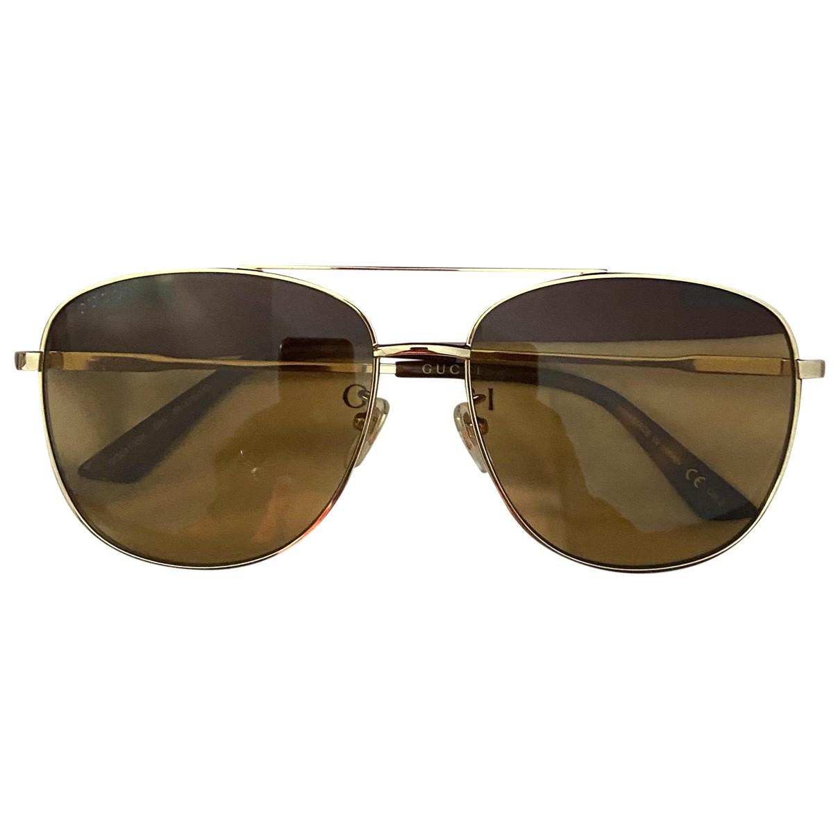 Gucci \N Gold Metal Sunglasses for Men \N
