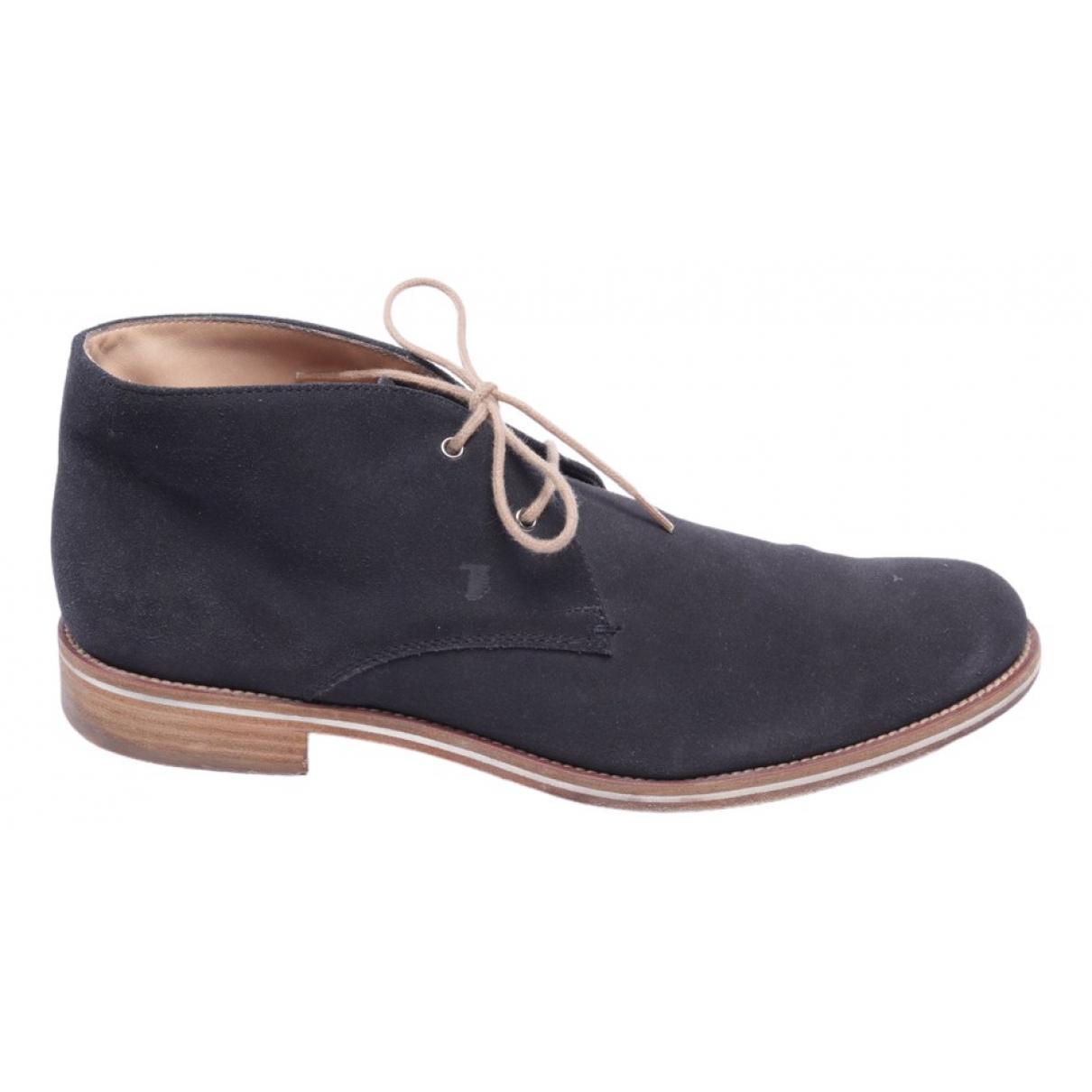 Tods - Boots   pour femme en cuir - bleu