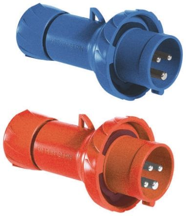 Merlin Gerin , PratiKa IP67 Red Cable Mount 3P+N+E Industrial Power Plug, Rated At 16.0A, 415.0 V