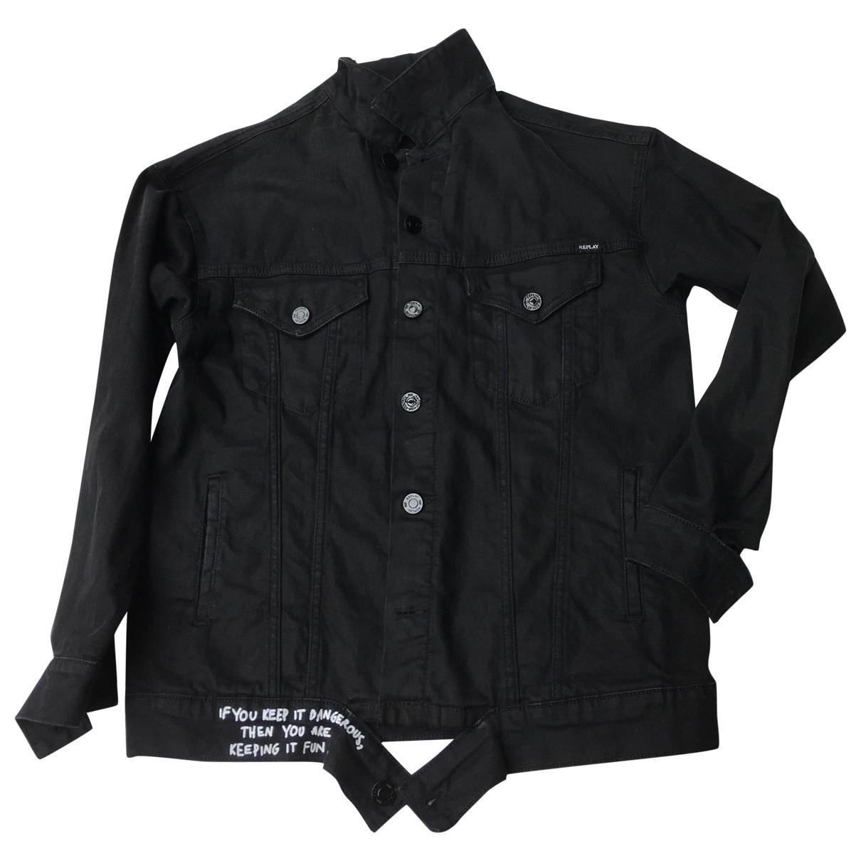 Replay - Veste   pour femme en coton - noir