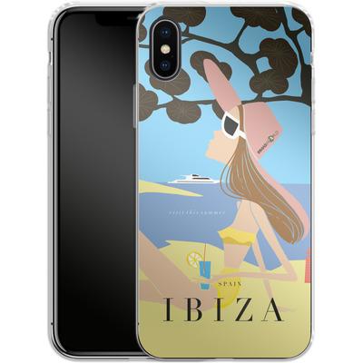 Apple iPhone X Silikon Handyhuelle - IBIZA TRAVEL POSTER von IRMA
