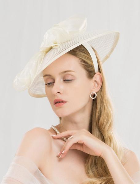 Milanoo Champagne Fascinator Hat Retro Women Royal Vintage Headpieces