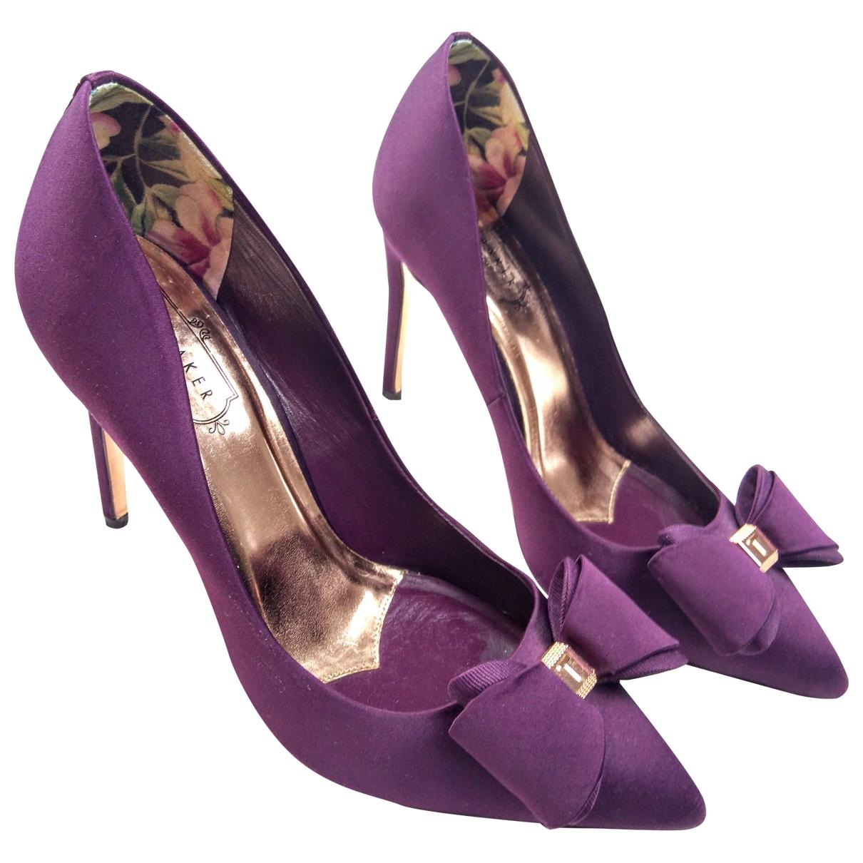 Ted Baker - Escarpins   pour femme en toile - violet