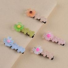 5pcs Toddler Girls Flower Decor Hair Clip