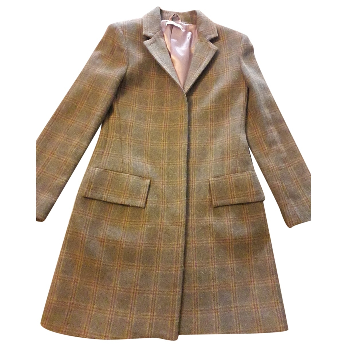 Non Signé / Unsigned \N Brown Wool coat for Women 40 IT