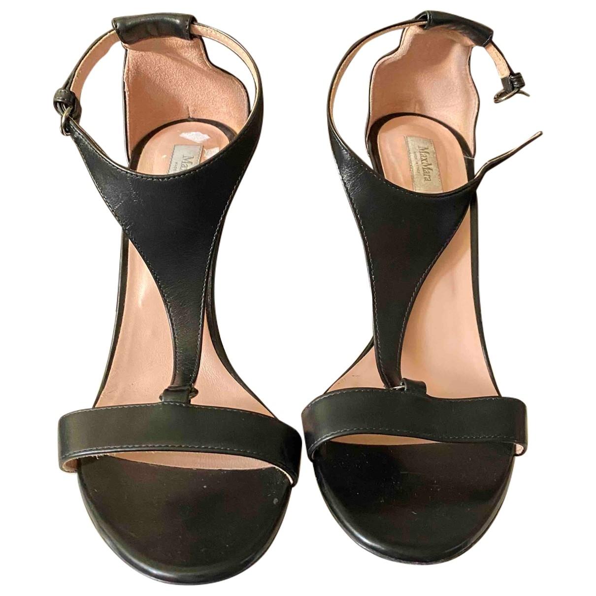 Sandalias romanas de Cuero Max Mara
