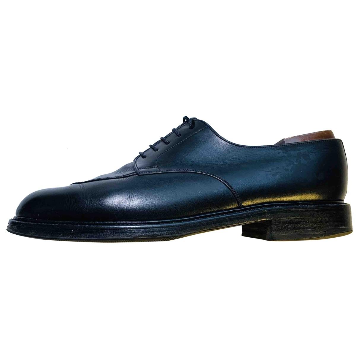 Jm Weston \N Black Leather Lace ups for Men 9.5 UK