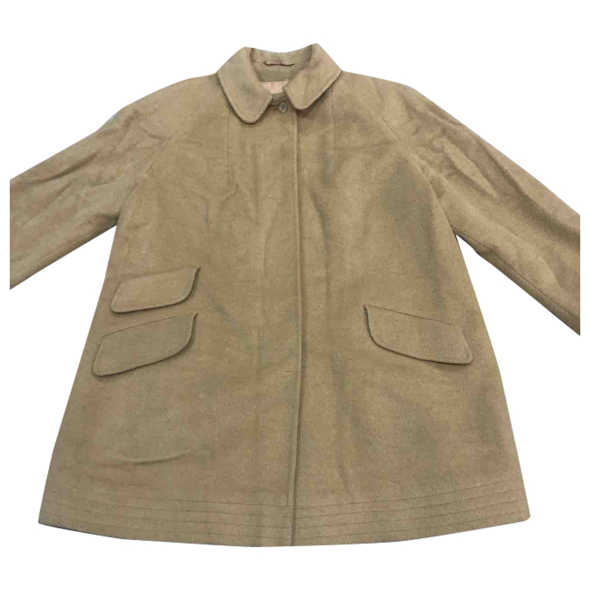 Aquascutum \N Beige Wool coat for Women 14 UK