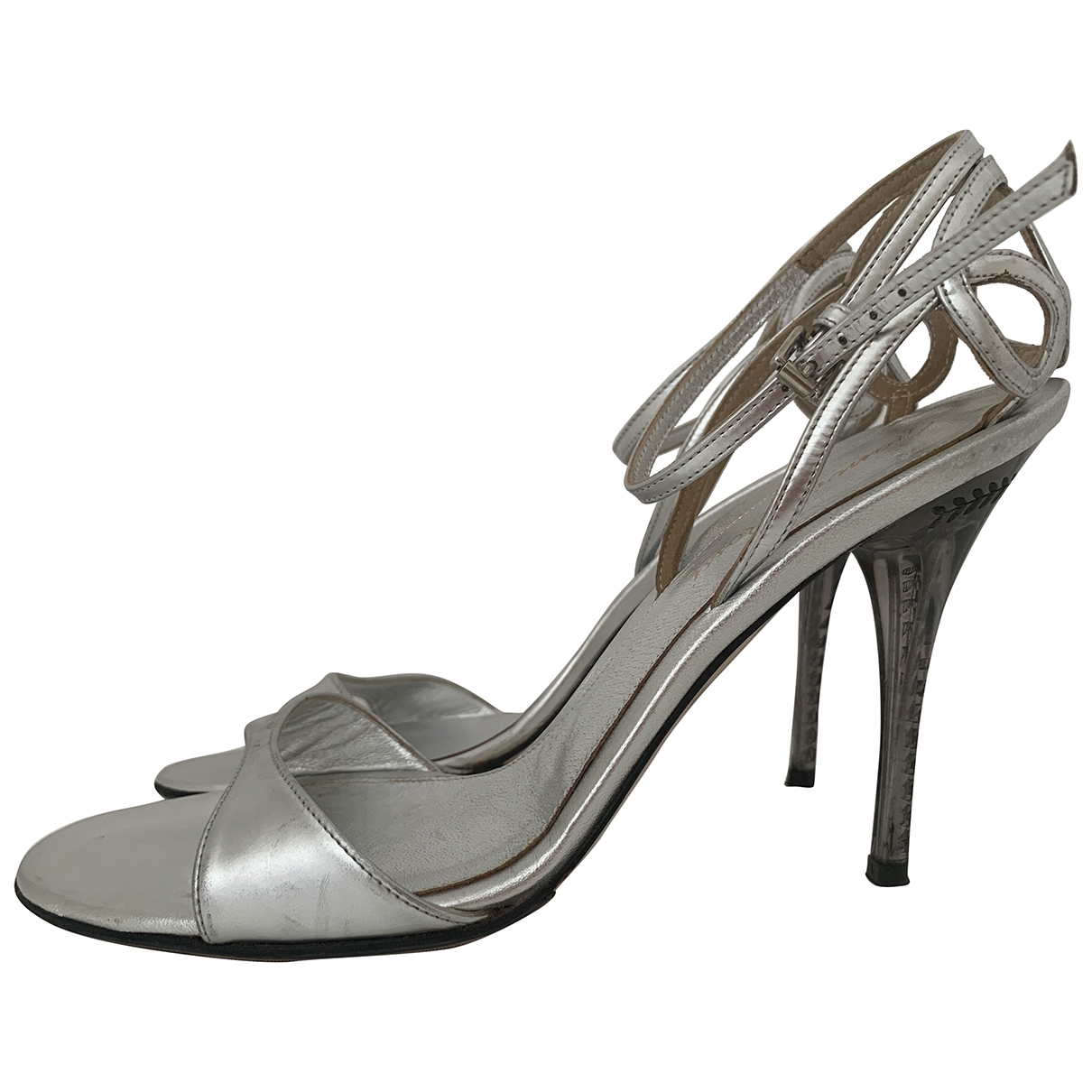 Gianvito Rossi \N Silver Leather Sandals for Women 39.5 EU
