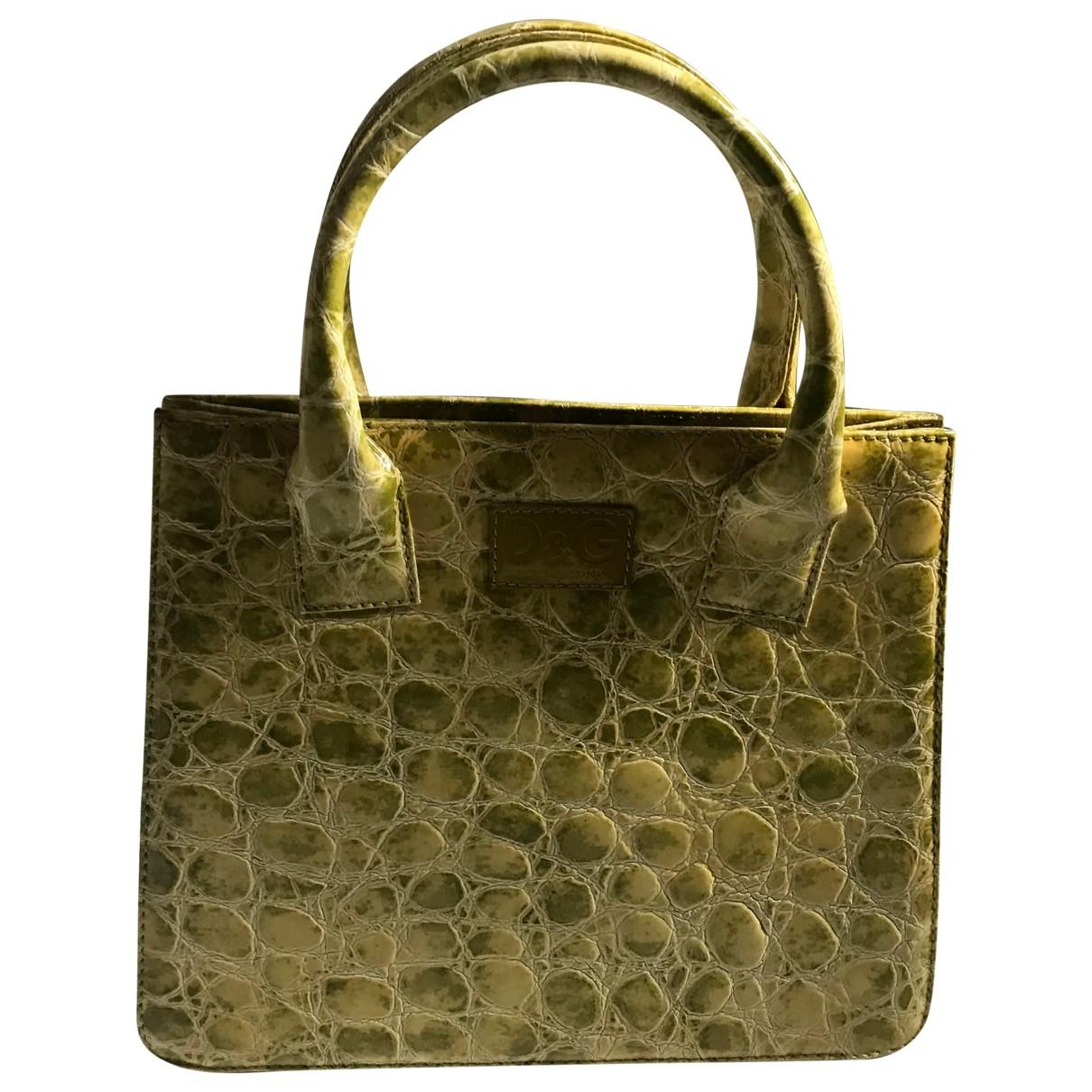 D&g \N Handtasche in  Gruen Lackleder