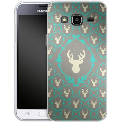 Samsung Galaxy J3 (2016) Silikon Handyhuelle - Oh Deer von Bianca Green