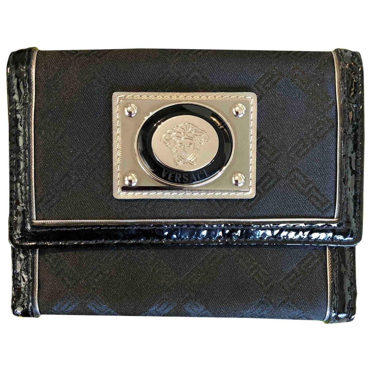 Versace Jean - Portefeuille   pour femme en cuir - noir