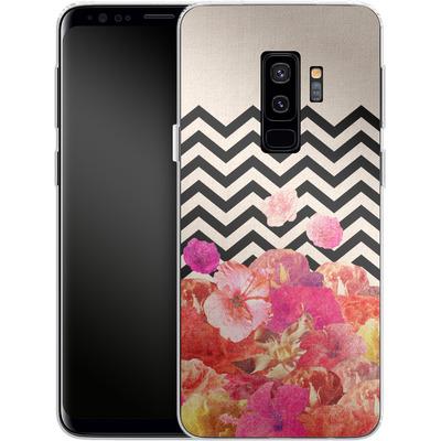 Samsung Galaxy S9 Plus Silikon Handyhuelle - Chevron Flora II von Bianca Green