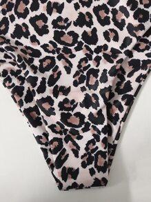 Leopard High Waisted Bikini Swimsuit