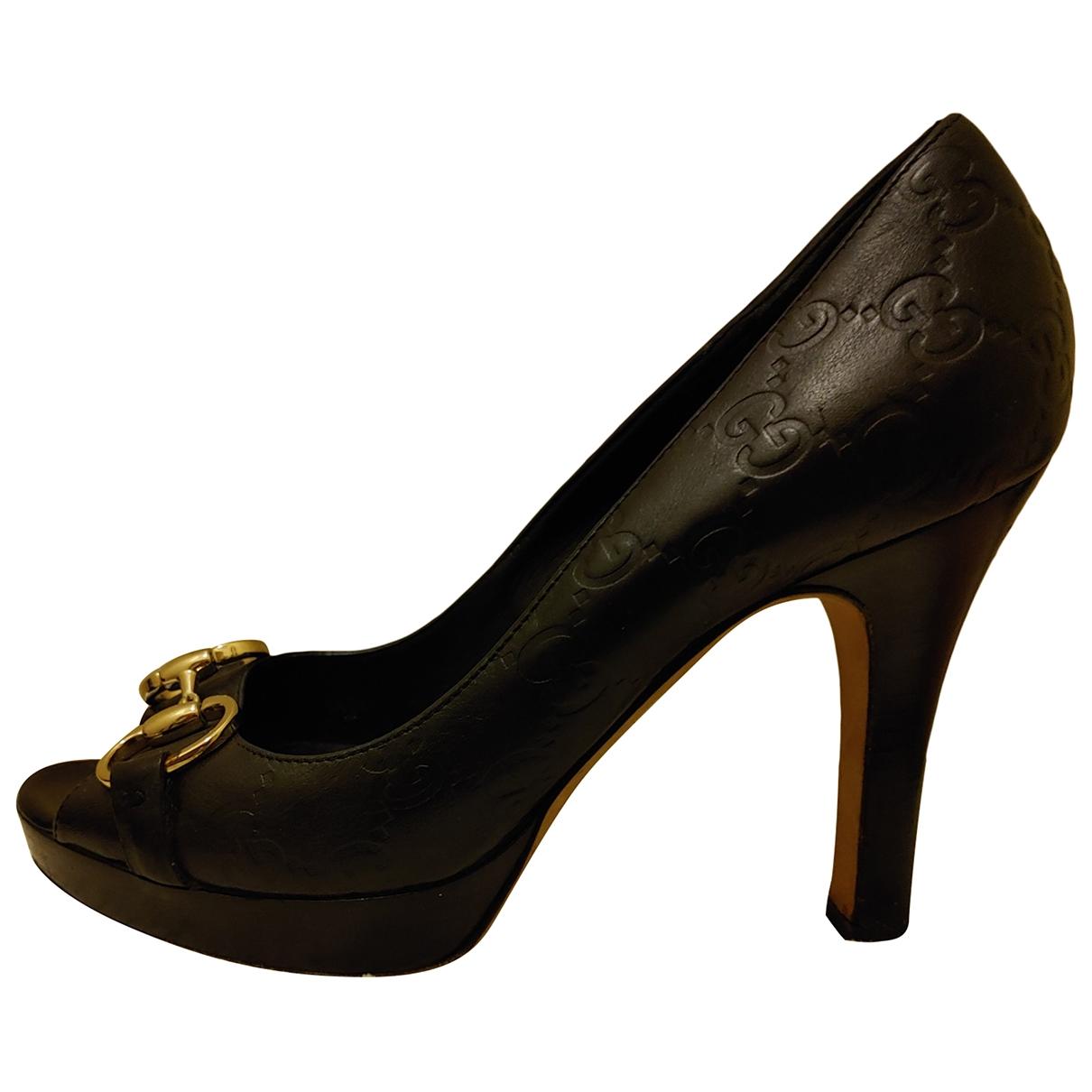 Gucci - Escarpins   pour femme en cuir - noir
