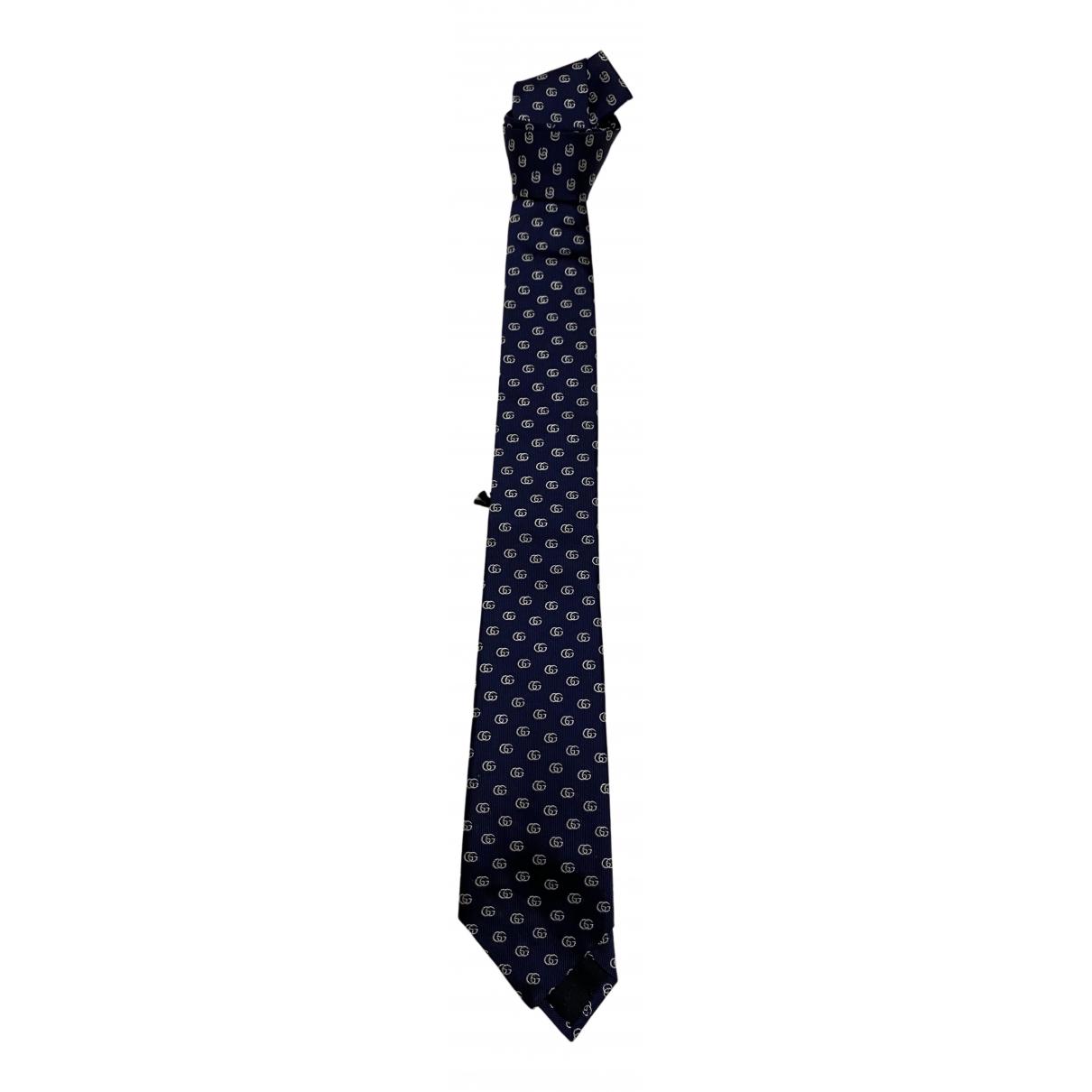 Gucci \N Krawatten in  Blau Seide