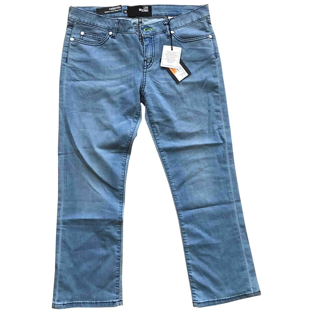 Moschino Love \N Jeans in  Blau Baumwolle - Elasthan