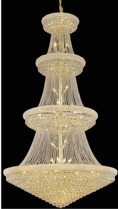 V1800G54G/RC 1800 Primo Collection Chandelier D:54In H:96In Lt:48 Gold Finish (Royal Cut