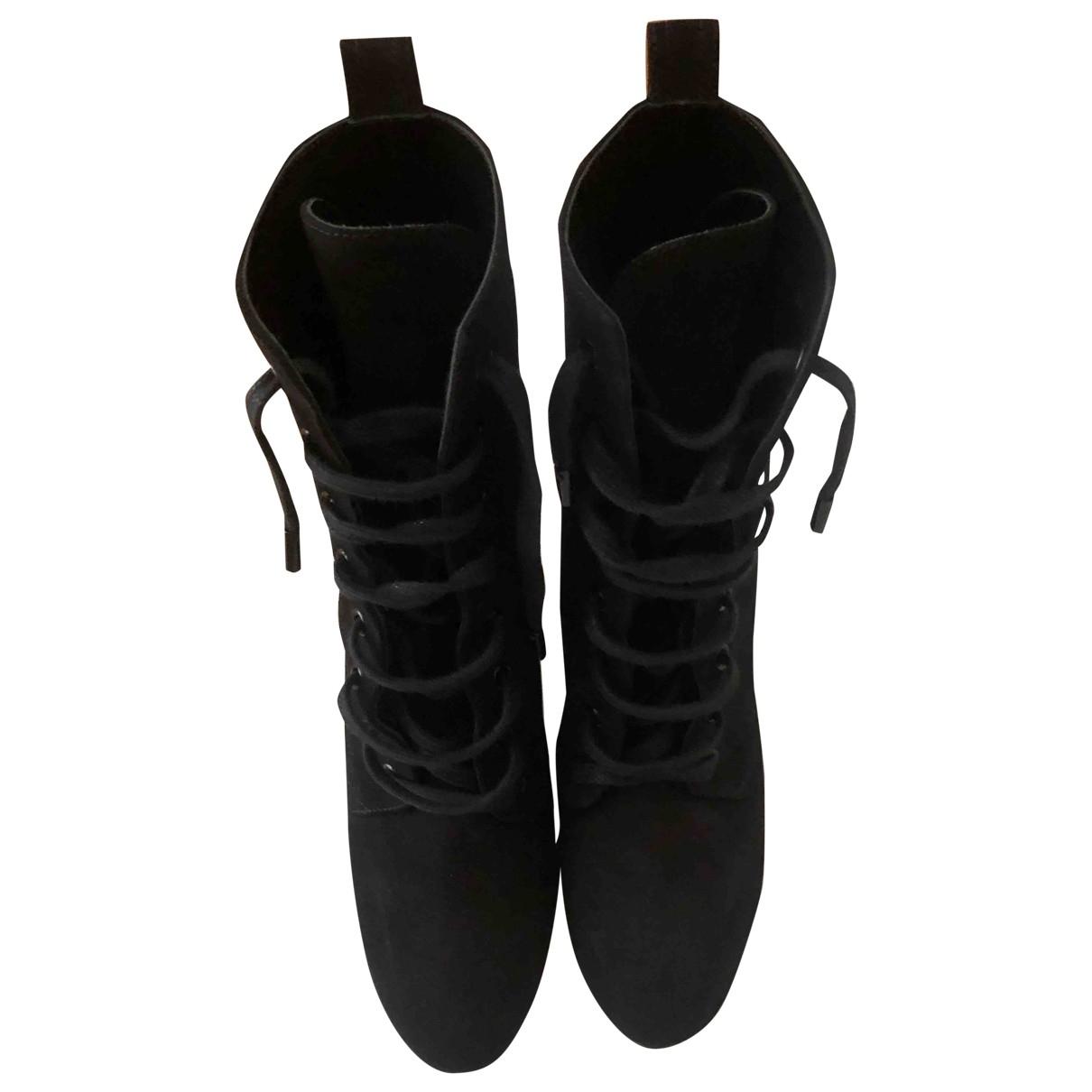 Saint Laurent \N Black Suede Ankle boots for Women 39 EU