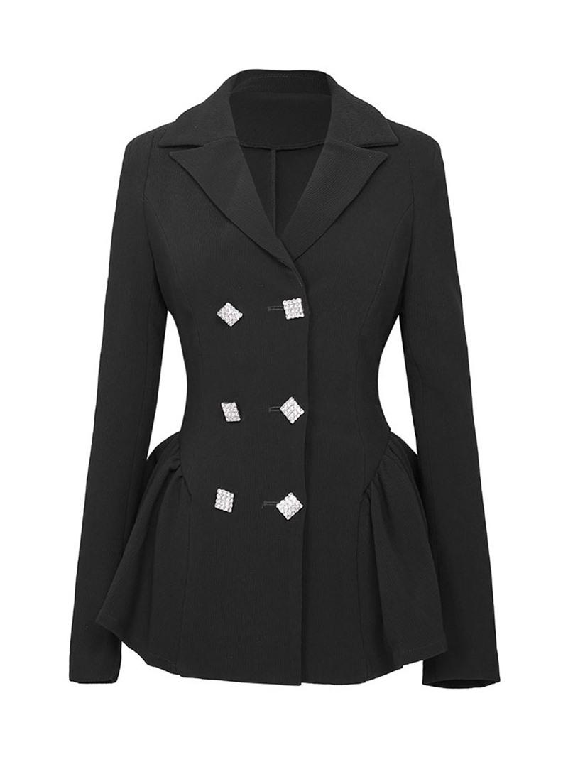 Ericdress Plain Single-Breasted Long Sleeve Mid-Length Regular Casual Blazer