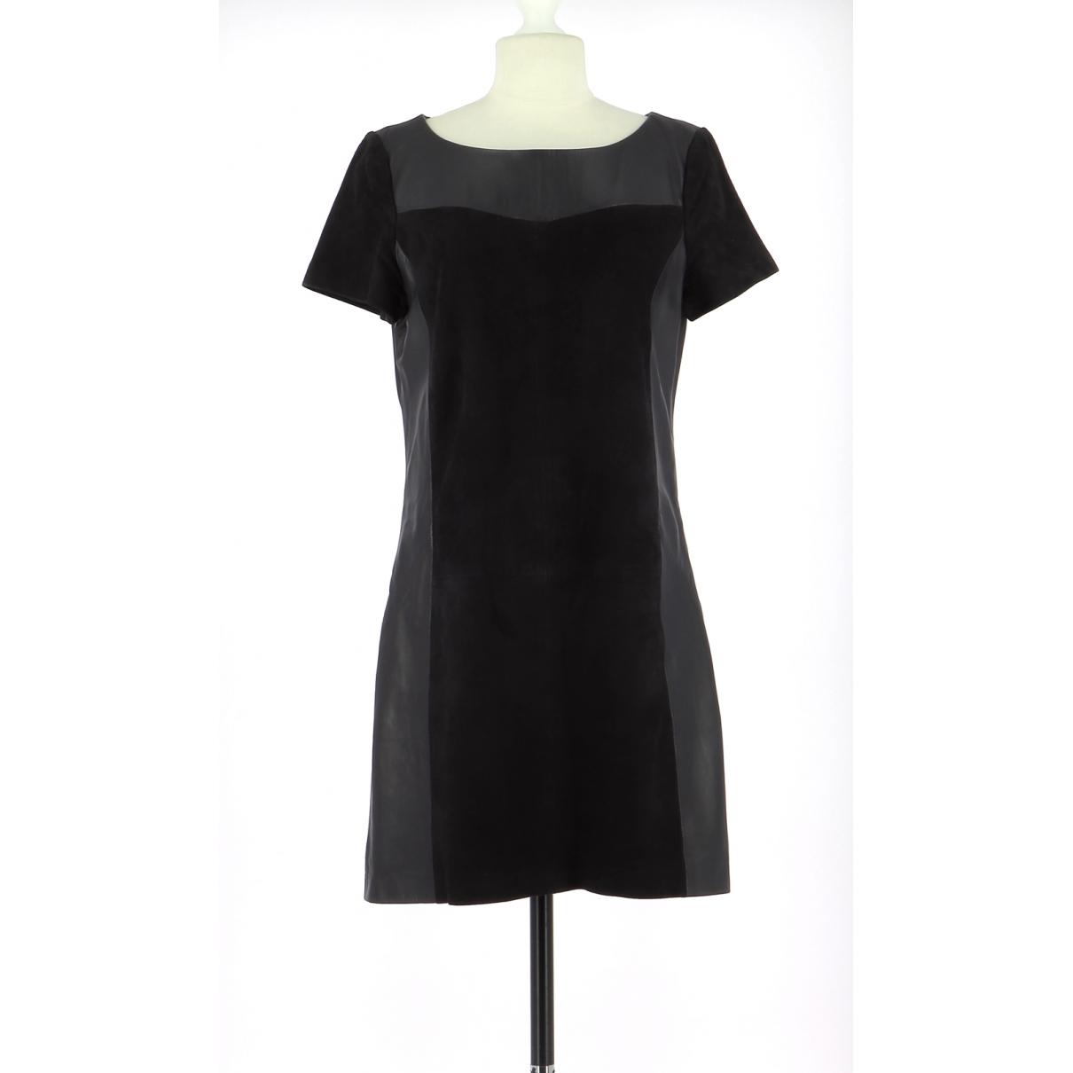 Comptoir Des Cotonniers \N Navy Leather dress for Women 38 FR