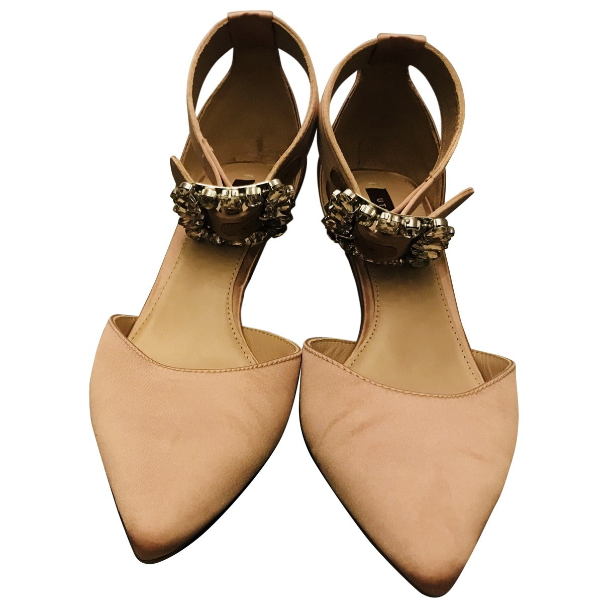 Uterque \N Pink Leather Heels for Women 36 EU
