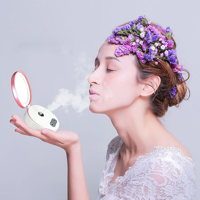 Nano Spray Hydrating Instrument Mini Portable Rechargeable Facial Steamer Beauty Humidifier Cold Spray Instrument