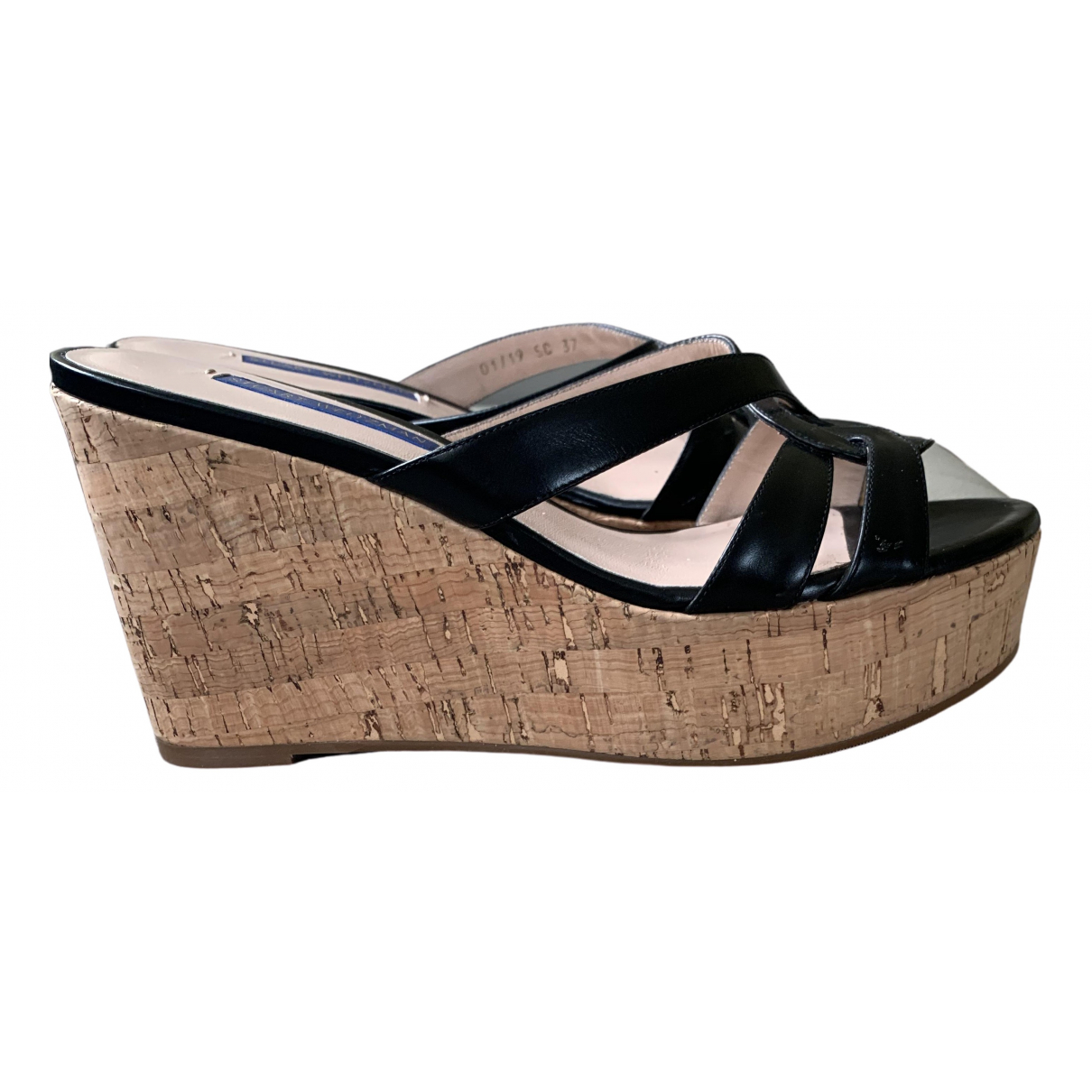 Stuart Weitzman \N Black Leather Sandals for Women 37 EU
